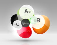 Circle geometric abstract background. Colorful business or technology design for web on white with sample text Stock Photos