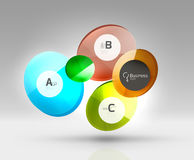 Circle geometric abstract background Stock Image