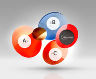 Circle geometric abstract background Stock Photo