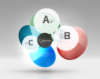 Circle geometric abstract background. Colorful business or technology design for web on white with sample text Stock Photography