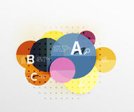 Circle geometric abstract background Royalty Free Stock Photos
