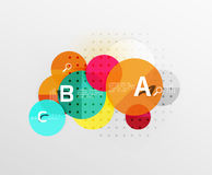 Circle geometric abstract background. Vector template background for workflow layout, diagram, number options or web design Royalty Free Stock Image