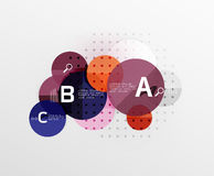 Circle geometric abstract background. Vector template background for workflow layout, diagram, number options or web design Royalty Free Stock Photo