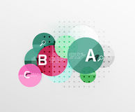 Circle geometric abstract background. Vector template background for workflow layout, diagram, number options or web design Royalty Free Stock Photography