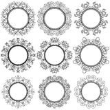 Circle Geometric Ornaments. Emblems and Badges Royalty Free Stock Images