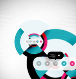 Circle geometric shapes flat interface design. Geometric shapes flat interface design for infographics | business background | numbered banners | business lines Stock Images