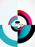 Circle geometric shapes flat interface design Stock Image