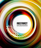 Circle geometrical colorful wave dotted background Royalty Free Stock Photos