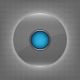 Circle glass button Stock Photography