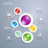 Circle glass info. Abstract 3D Modern digital template vector  infographics Stock Image