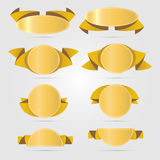 Circle gold banners vector Royalty Free Stock Image