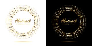 Free Circle Gold Dot Frame. Luxury Circular Border With Effect Halftone. Elegant Sphere Boarder. Modern Golden Ring. Faded Dots. Shape Royalty Free Stock Photos - 217087938