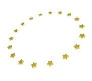 Circle of gold stars Stock Photo