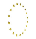 Circle of gold stars Stock Photo