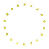 Circle of gold stars Royalty Free Stock Photography