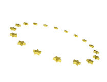 Circle of gold stars Stock Photography