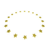 Circle of gold stars Royalty Free Stock Images