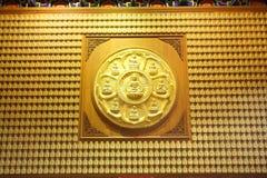 The circle of golden buddha Royalty Free Stock Photos