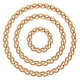 Circle golden frame. Stock Image