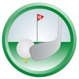 Circle golf Royalty Free Stock Photos