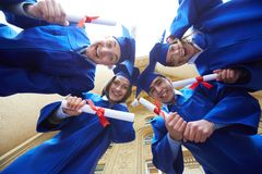 Circle of graduates Stock Photo