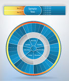 Circle graph. Blank colorful circle graph for different statistics Royalty Free Stock Images