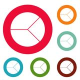 Circle graph icons circle set vector. Isolated on white background Stock Images