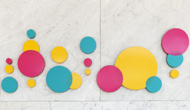 Circle graphic  on marble wall Royalty Free Stock Photo