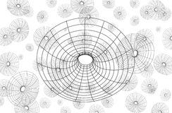 Circle graphic net Stock Images