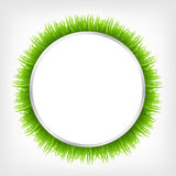 Circle With Grass. Vector Illustration Royalty Free Stock Image