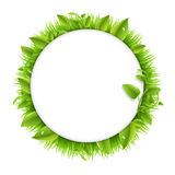 Circle With Grass And Leafs Stock Photography