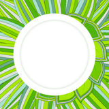 Circle green background. Vector circle background with grass Stock Images