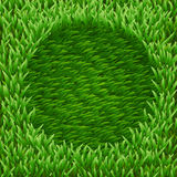 Circle on green grass Stock Photo