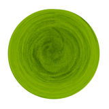 Circle green grass isolated. Royalty Free Stock Images