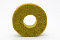 Circle green tea multiple layers cake Royalty Free Stock Photos