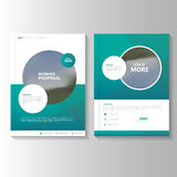 Circle Green Vector annual report Leaflet Brochure Flyer template design, book cover layout design, Abstract blue presentation Royalty Free Stock Photography