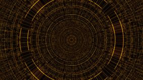 Circle with grid, abstract business science or computer technology background, 3d render backdrop, computer generated
