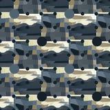 Circle grid and irregular backdrop seamless pattern. Futuristic design, texture background, minimalism Royalty Free Stock Photo