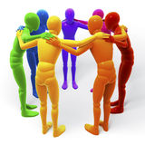 Circle, group of colored figures, people Royalty Free Stock Photography