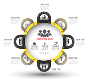 Circle group template with icons Stock Photo