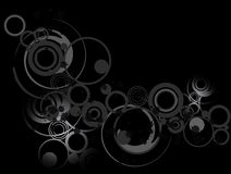 Circle Grunge. Abstract grunge background accented with circles Stock Image