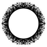 Circle grunge frame Stock Image