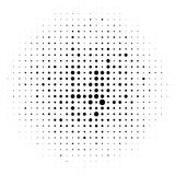 Circle halftone element, monochrome abstract graphic for DTP, pr. Epress or generic concepts. - Royalty free vector illustration Royalty Free Stock Image