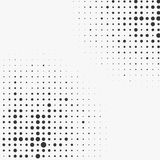 Circle halftone element, monochrome abstract graphic for DTP, pr. Epress or generic concepts. - Royalty free vector illustration Royalty Free Stock Photo