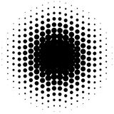 Circle halftone element, monochrome abstract graphic for DTP, pr. Epress or generic concepts. - Royalty free vector illustration Stock Images