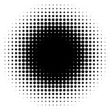 Circle halftone element, monochrome abstract graphic for DTP, pr. Epress or generic concepts. - Royalty free vector illustration Stock Photo