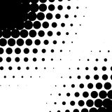 Circle halftone element, monochrome abstract graphic for DTP, pr. Epress or generic concepts. - Royalty free vector illustration Stock Photography