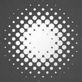Circle halftone element, monochrome abstract graphic for DTP, pr. Epress or generic concepts. - Royalty free vector illustration Royalty Free Stock Photography