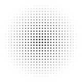 Circle halftone element, monochrome abstract graphic for DTP, pr. Epress or generic concepts. - Royalty free vector illustration Stock Image