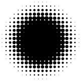 Circle halftone element. Monochrome dotted circular pattern. stock illustration